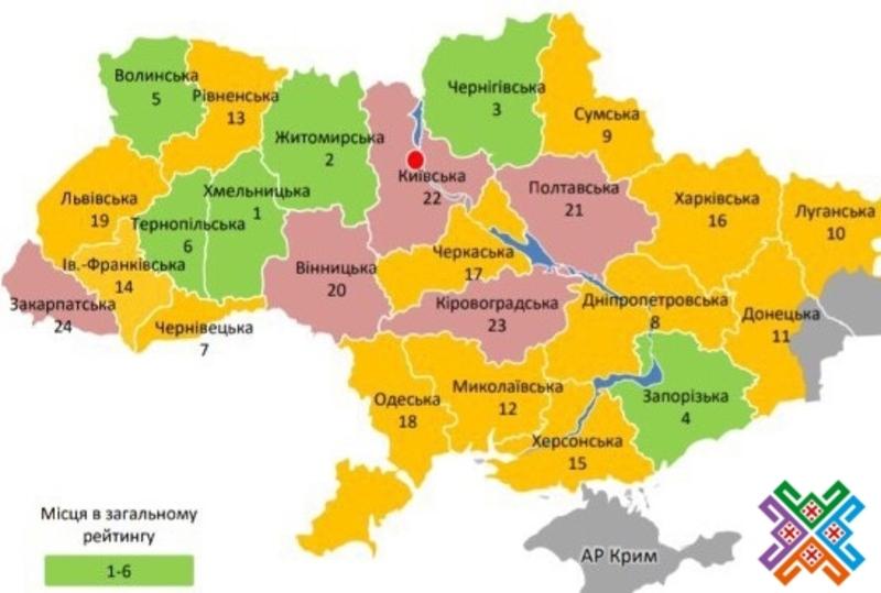 Відсоток площі Хмельницької області вкритої перспективним планом - найвищий