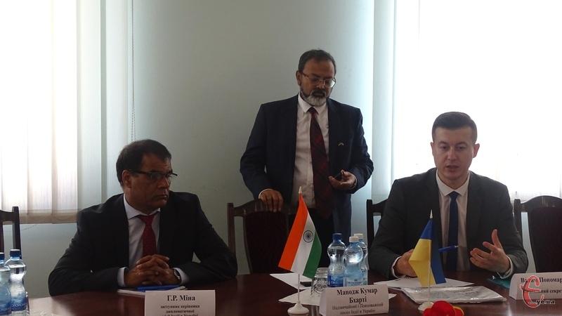 Посол Індії обговорив з бізнесменами області аспекти можливої співпраці