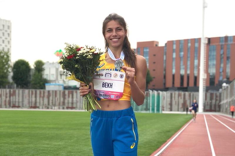 Марина Бех у столиці Білорусі посіла друге місце в секторі стрибків у довжину