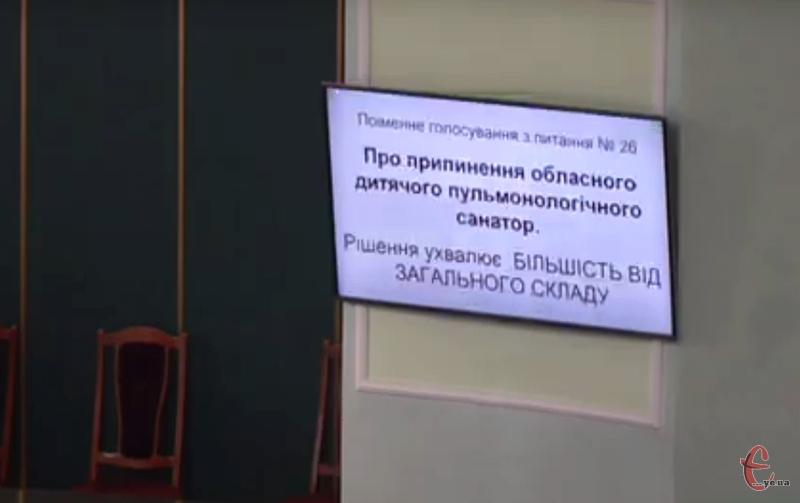 Під час голосування депутати, більшістю голосів не підтримали закриття дитячих санаторіїв