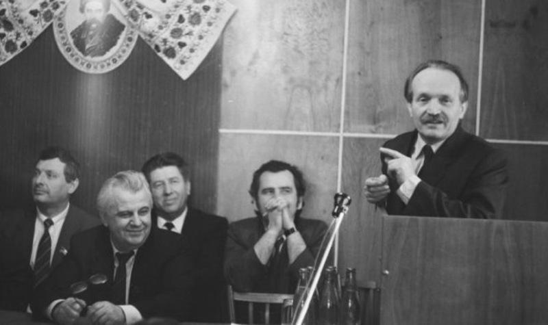 Виступ В'ячеслава Чорновола на одному із засідань УНР у 1991 році