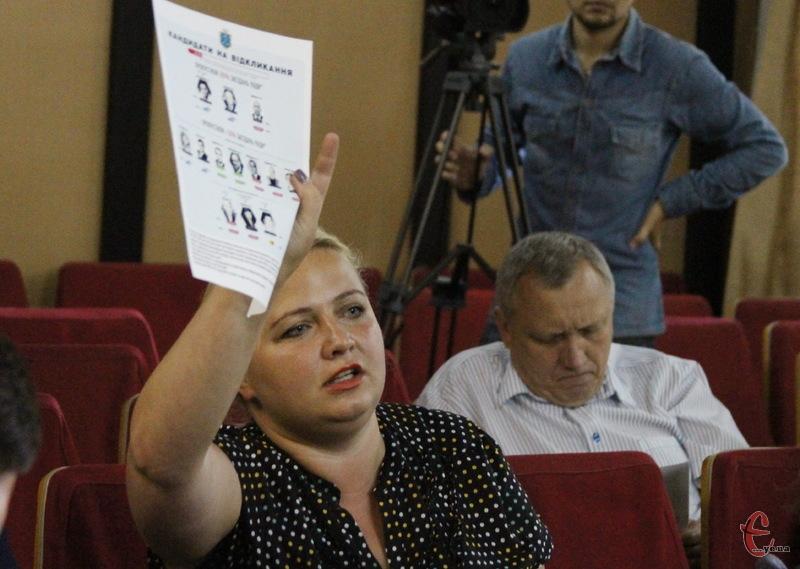 Олеся Тарасова також була обурена викладеними результатами моніторингу руху Чесно
