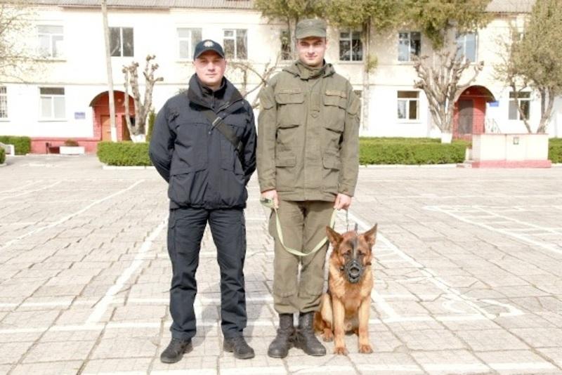 Подяки отримали кінолог Андрій Левчук та собака Леон