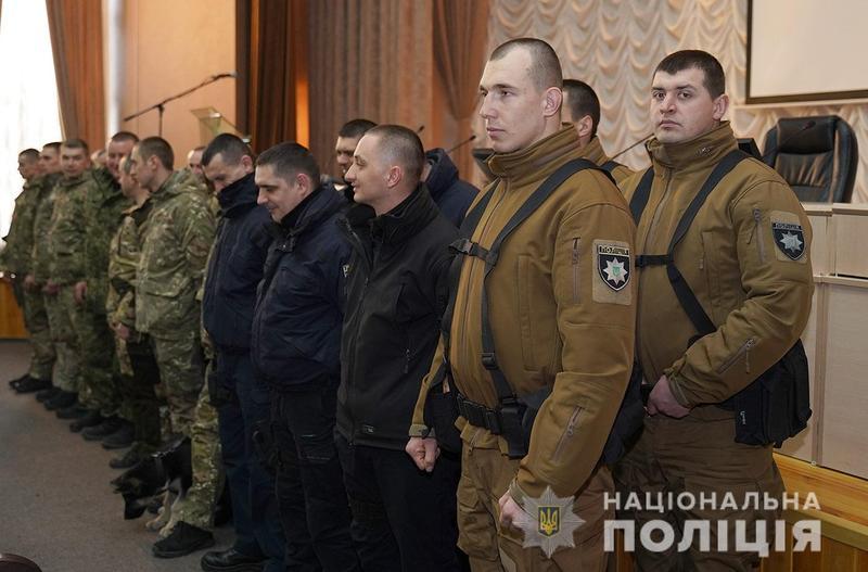 Зведений загін хмельницьких поліцейських повернувся із зони проведення Операції Об\'єднаних Сил