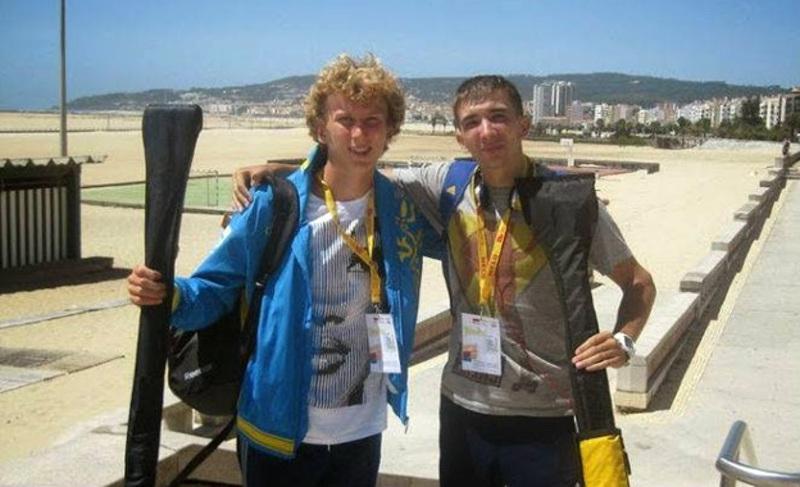 Павло Алтухов (ліворуч) та Дмитро Янчук у цьому веслувальному сезоні здобули чимало нагород європейського та світового гатунку.