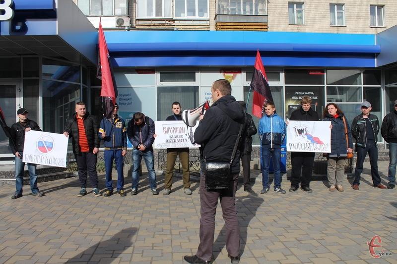 У Хмельницькому акція проти російського бізнесу в Україні була не чисельною