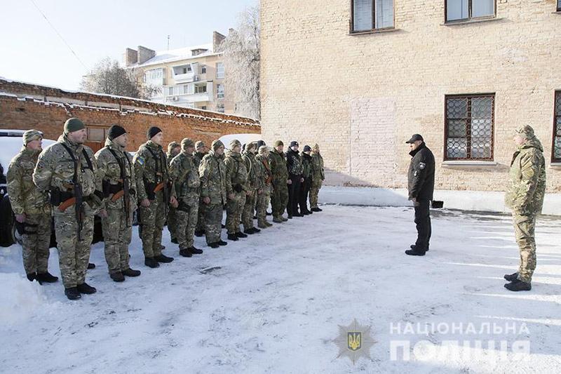 Поліцейські вирушив у зону проведення Операції об'єднаних сил