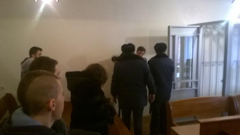 Андрія Орєхова взяли під варту у залі суду.