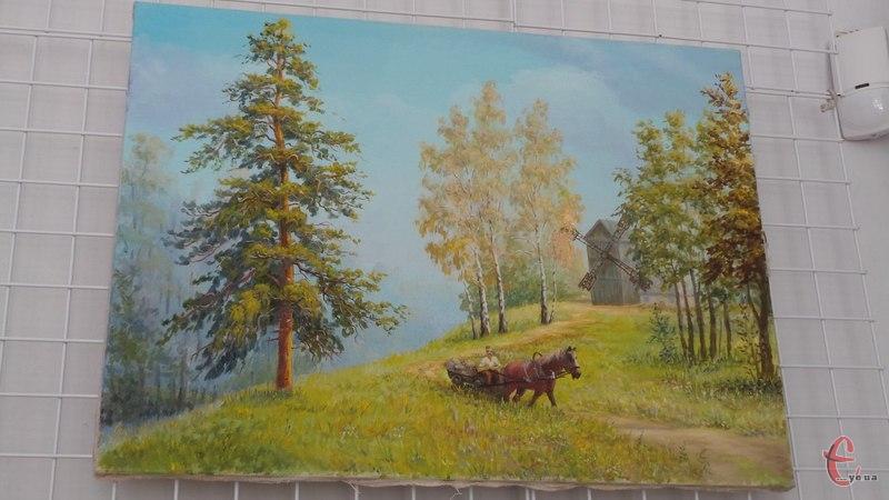 Володимир Мирончук малює живописні пейзажі та квіткові натюрморти