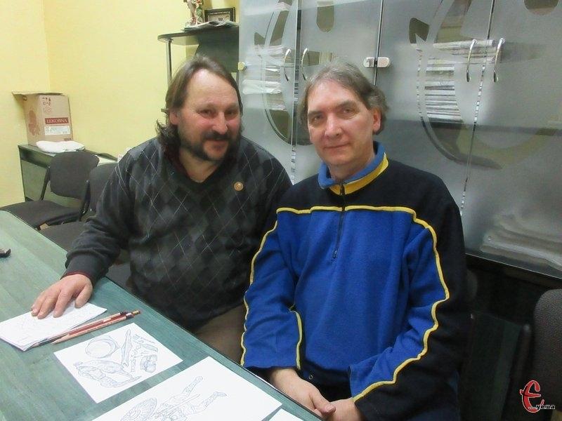 Беручись за відтворення фортець та замків Володимир Захар'єв та Юрій Адамчук поєднують науковий підхід археолога і талант графіка