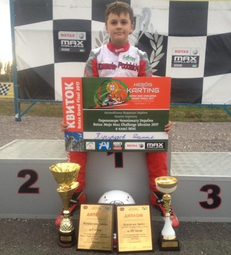 12-річний к'ямянчанин здобув золото на Чемпіонаті України в класі картингу