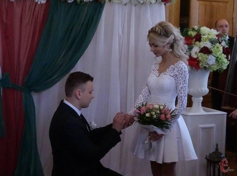 Михайло та Христина стали подружжям на День закоханих