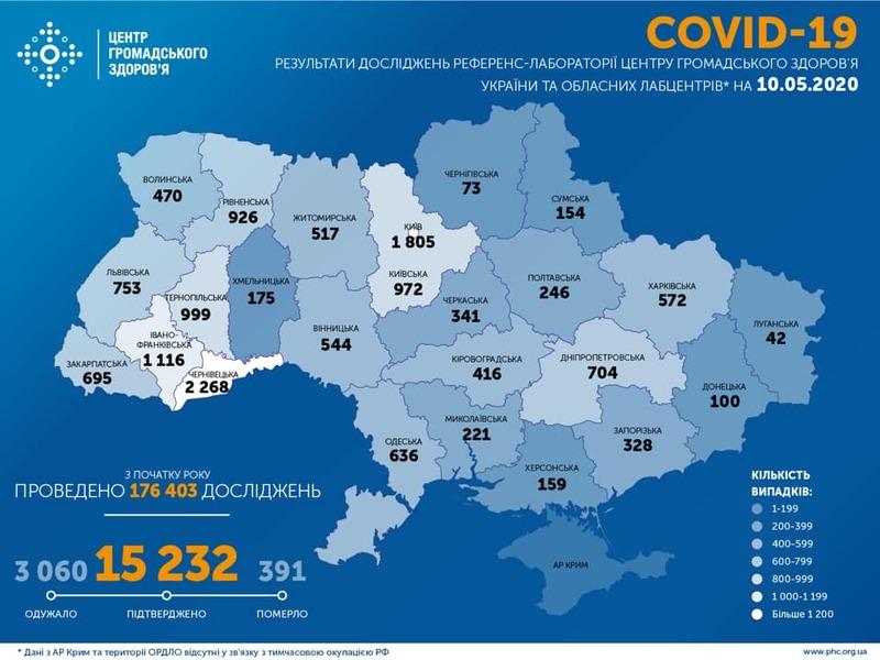 «Найбільше випадків 9 травня зафіксували у Чернівецькій, Львівській та Рівненській областях», — Максим Степанов