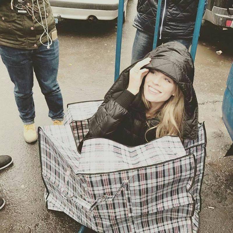 Ольга Фреймт у Хмельницькому навіть залазили в смугасту сумку
