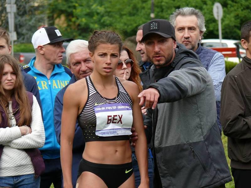Вихованка Вадима Крушинського (праворуч) Марина Бех візьме участь у чемпіонаті світу з легкої атлетики