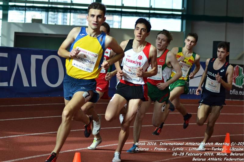 Андрій Аліксійчук із Шепетівки виграв у бігу на 1500 метрів у матчевій зустрічі, яка пройшла в Білорусі