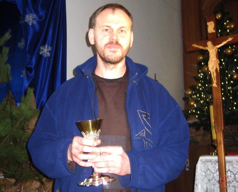 Чаша пережила більшовицький переворот, комуністичний терор, Другу світову війну, атеїстичні переслідування, - каже  брат Збігнєв Савчук