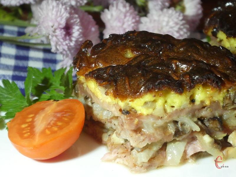 Завдяки багатошаровості м'ясо дуже і дуже соковите.