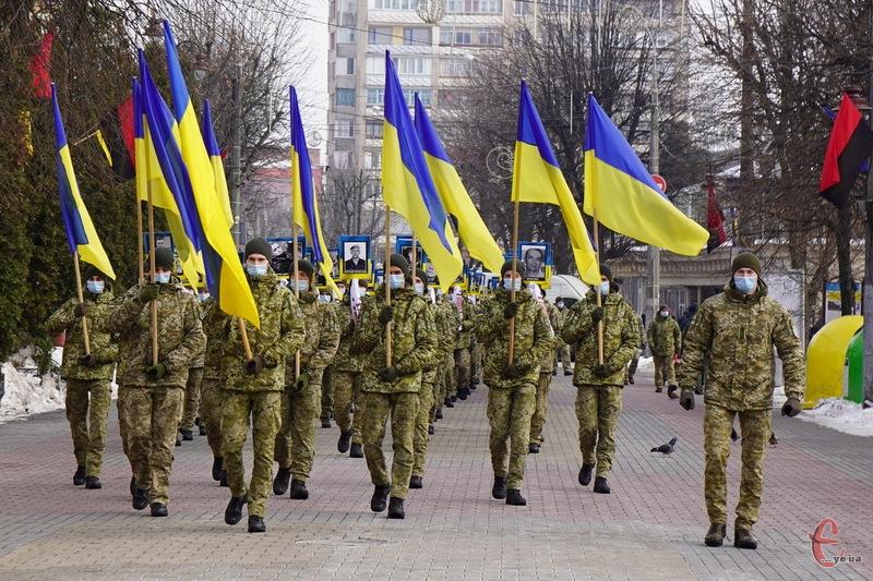 Марш Героїв у Хмельницькому пройшов вулицями Проскурівською, Подільською, Кам\'янецькою та Героїв Майдану