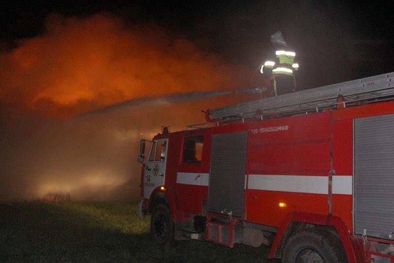 Гасити пожежу було складно через відсутність водопостачання