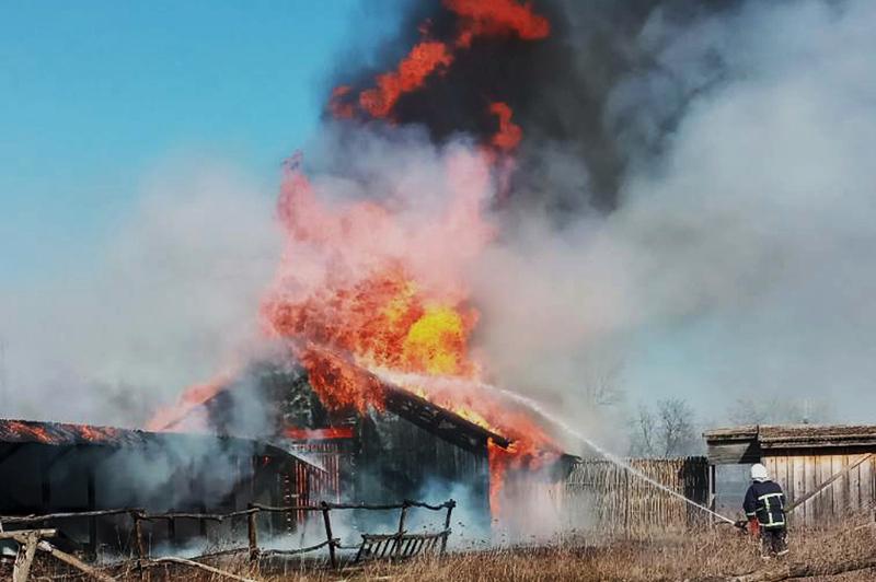 Пожежа сталася у селі Збруч