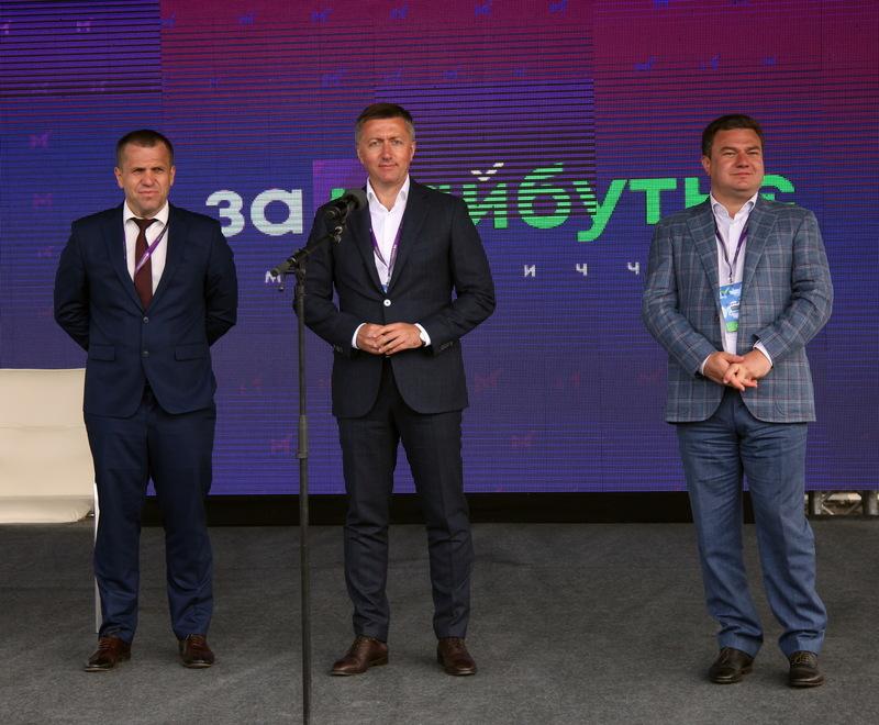 Сергій Іващук (ліворуч), Сергій Лабазюк (у центрі) та Віктор Бондар (праворуч)