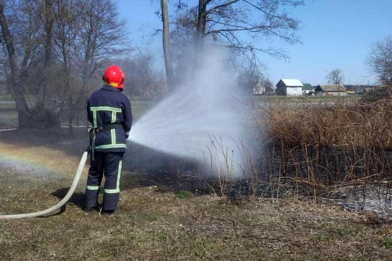 Рятувальники ліквідували загорання сухої трави