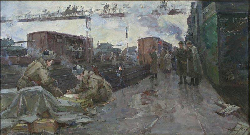 Експоновані роботи присвячені пам'яті полеглих у роки Другої світової війни героїв