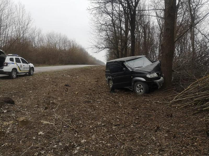 Автомобіль врізався в дерево, внаслідок чого водій смертельно травмувався