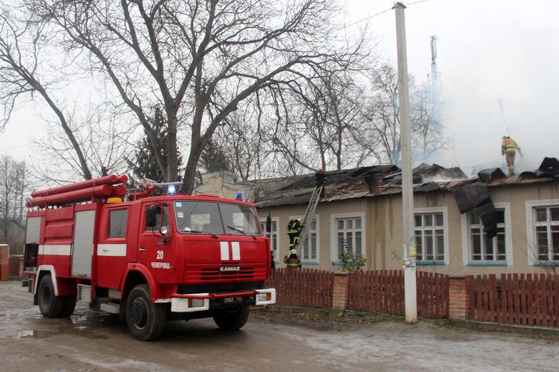 Пожежа розпочалася всередині будівлі