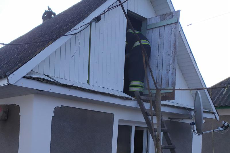 Під час пожежі травмувався чоловік