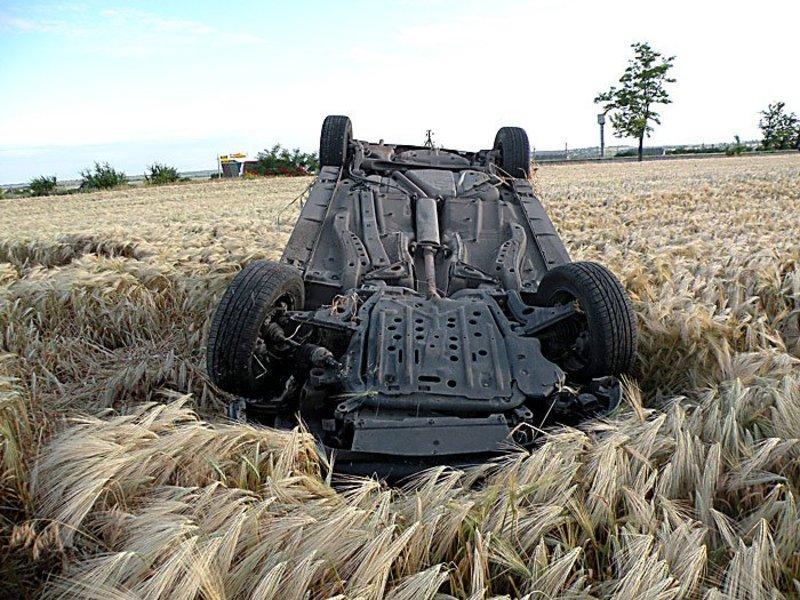 Автомобіль перевернувся