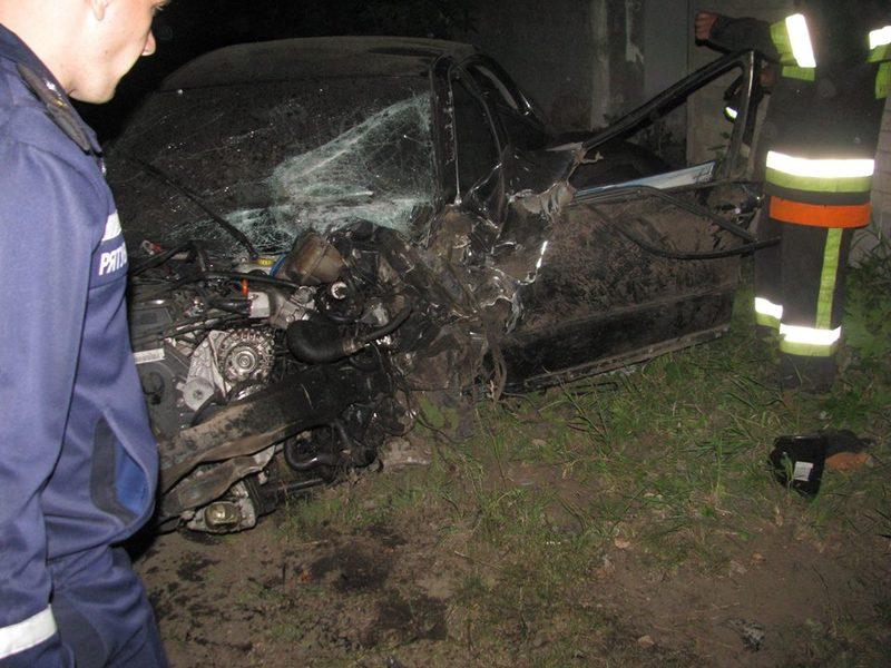 Автомобіль врізався в паркан
