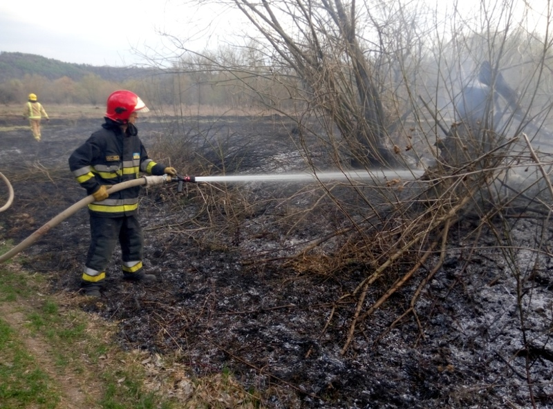 Вогнеборці врятували пенсіонера, який спалював сміття на відкритій території, від вогню