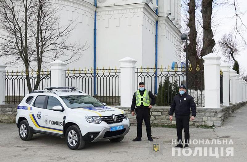 Правоохоронці слідкувати за ситуацію поблизу храмів під час великодніх богослужінь