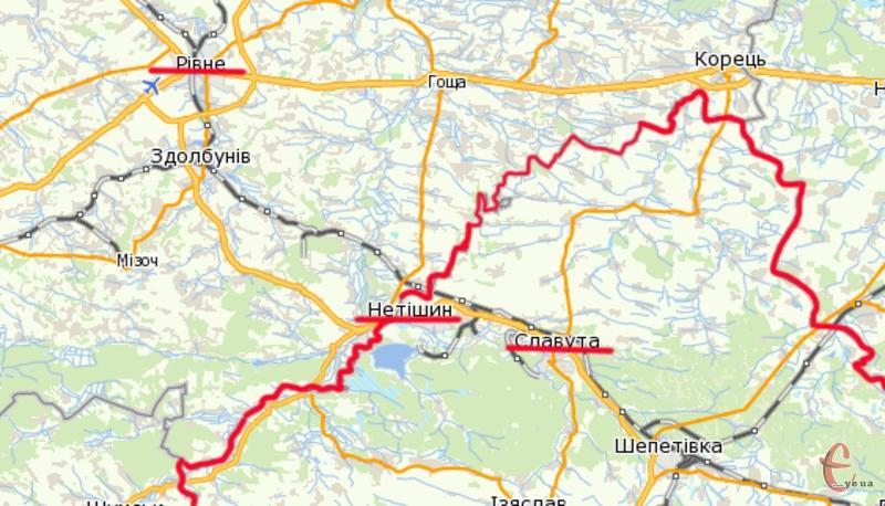 Два міста обласного значення хочуть перейти із Хмельницької області до Рівненської