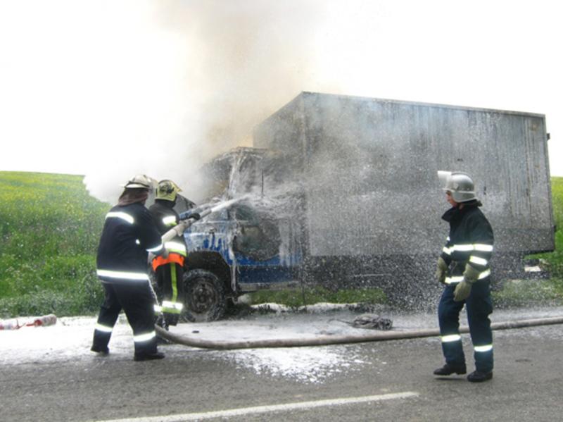Завдяки вправним діям працівники ДСНС не допустили значних пошкоджень вантажівки
