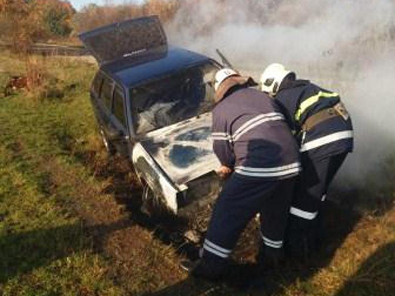 Рятувальники ліквідували загоряння легкового автомобіля