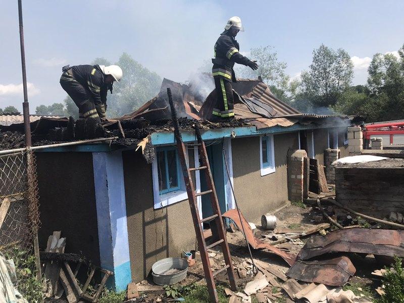 Вогнем було охоплено частину будівлі