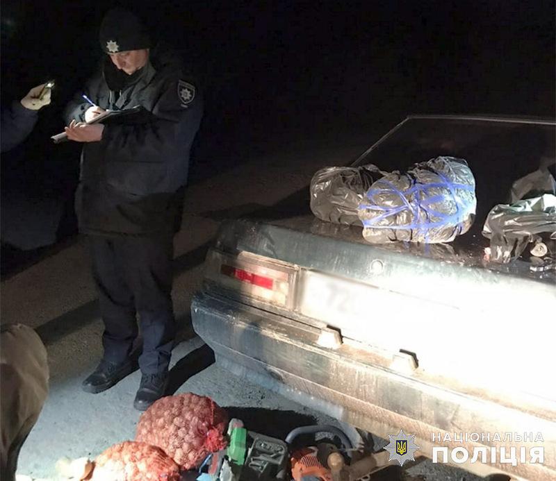 Поліцейські офіцери громади зупинили автомобіль «Mitsubishi Galant»