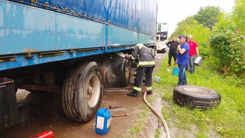 Ймовірна причина загоряння вантажівки — несправність рухомих вузлів і деталей
