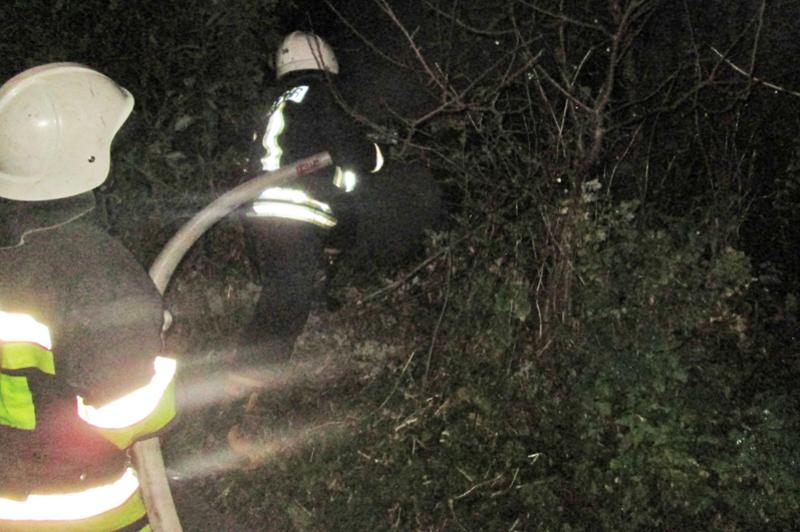 Вогнеборці ліквідували пожежу тюкованої соломи