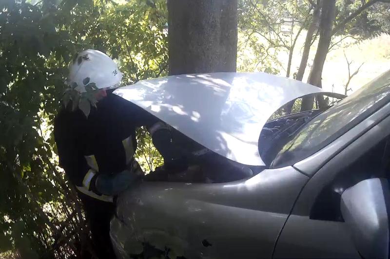В ДСНС кажуть, водійка не поставила автомобіль на передачу та він почав котитися