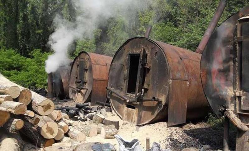 На підприємстві випалювали вугілля