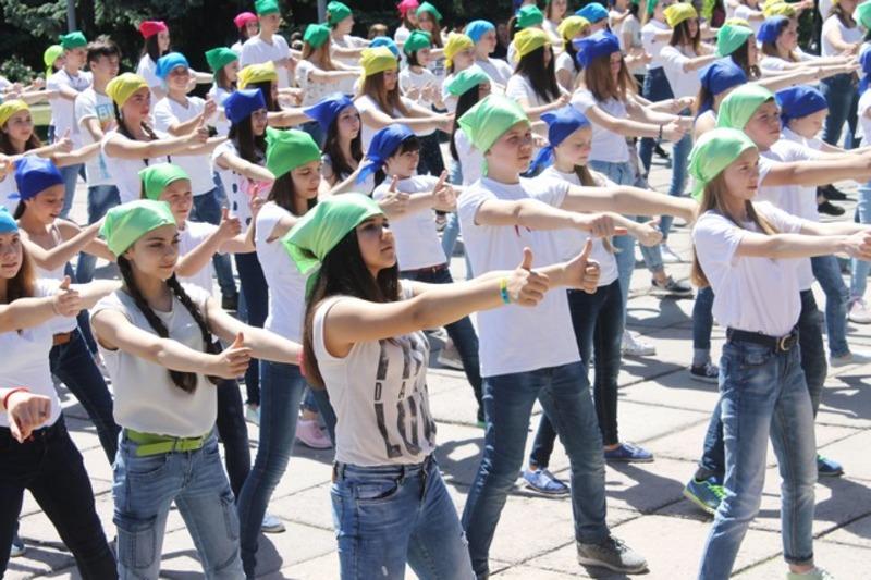 Школярі присвятили флешмоб Дню Міста