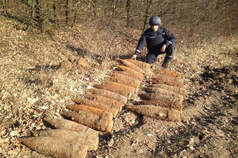 Небезпечні предмети виявили напередодні під час контрольного обстеження території в селі Лютарка