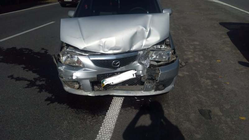 В аварії пошкоджені три легковики