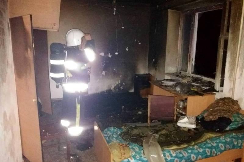 Вогонь спалахнув через дитячі пустощі