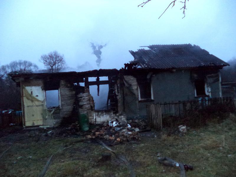 Під час гасіння пожежі житлового будинку рятувальники виявили тіло людини без ознак життя