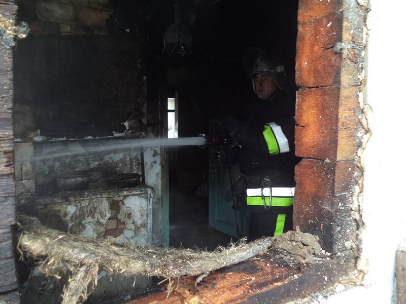 Під час ліквідації пожежі вогнеборці виявили тіло загиблого чоловіка